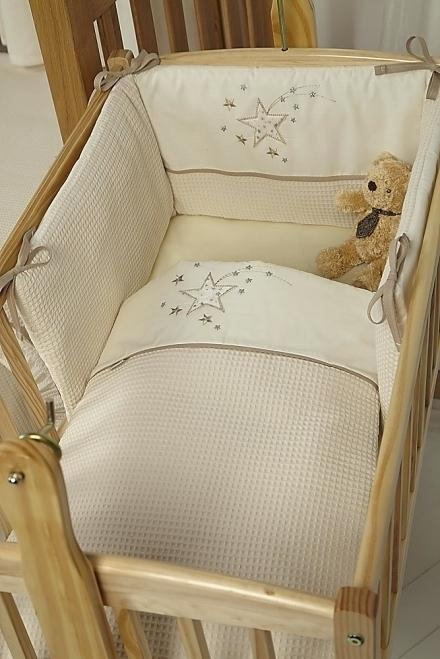 Cream nursery bedding sets for the little   ones come