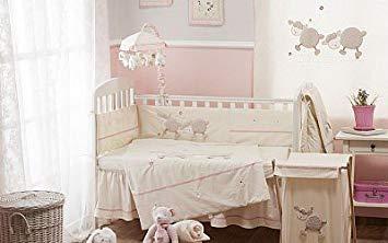 Traveller Location : Baby Bedding Design Cream Pink Sheep Crib Bedding Collection 4  Pc Crib Bedding Set : Baby