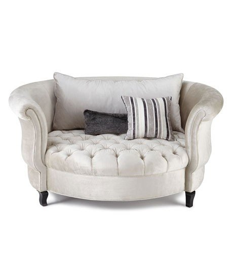 Plush snuggle swivel chair