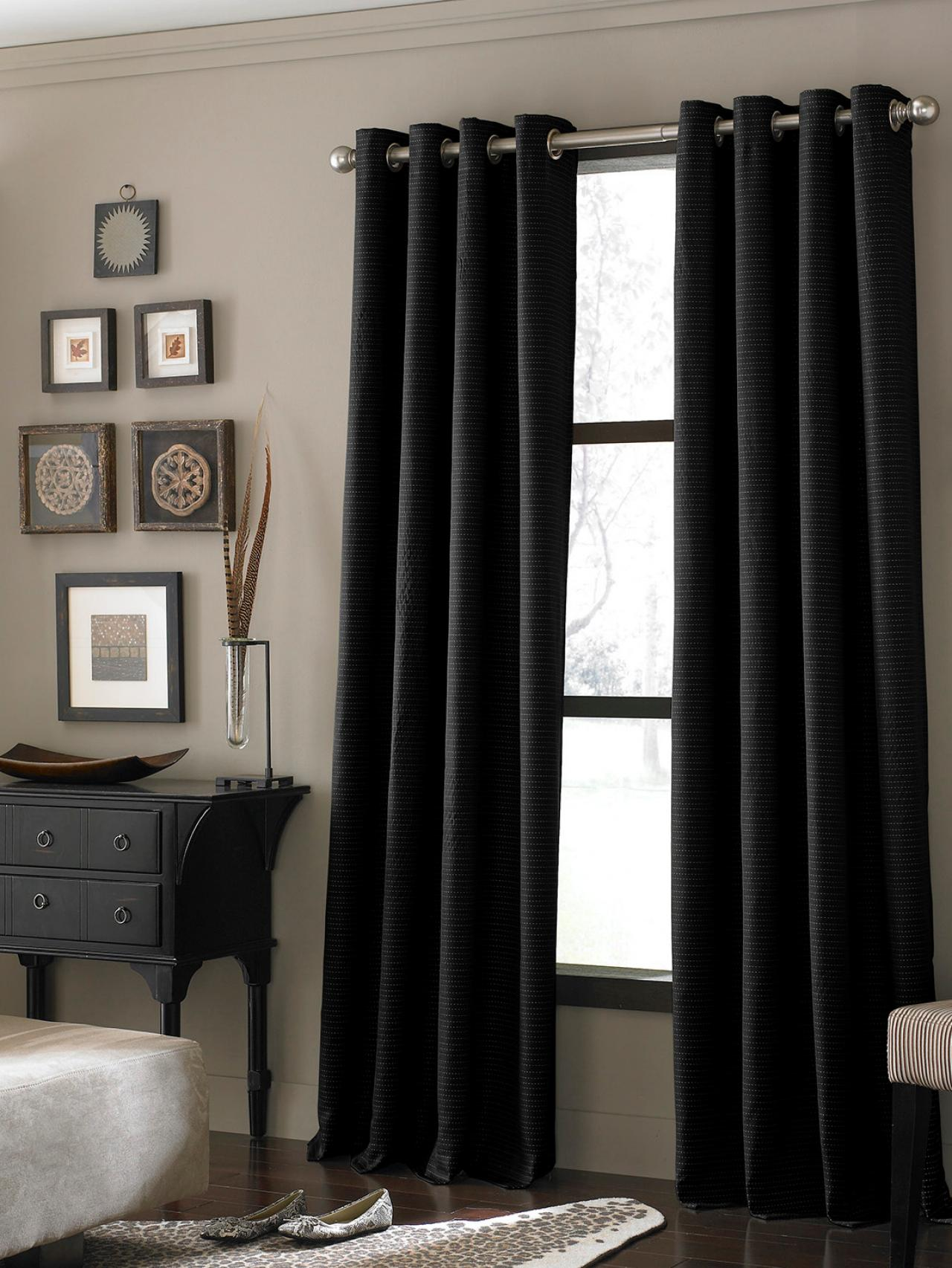 black-textured-curtains