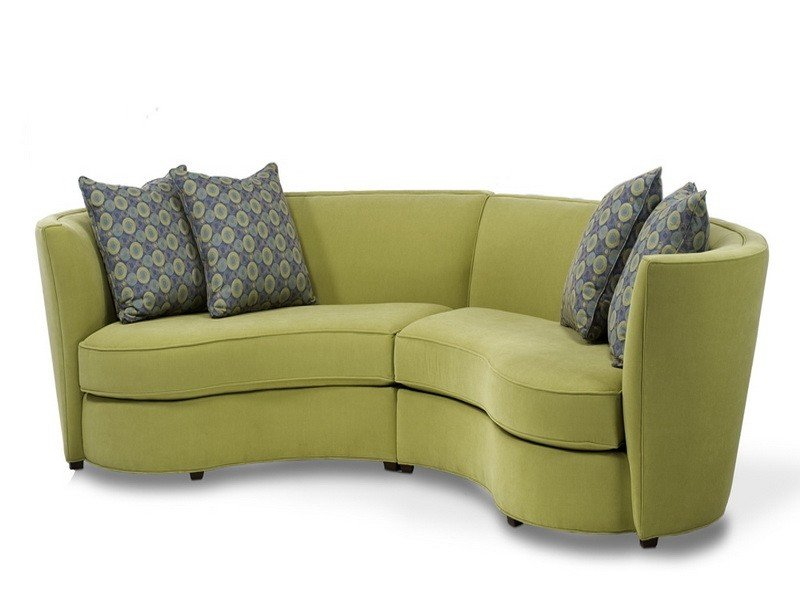 Small curved sectional sofa for small living room