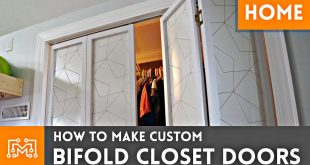 How To Make Custom Bifold Closet Doors // Woodworking