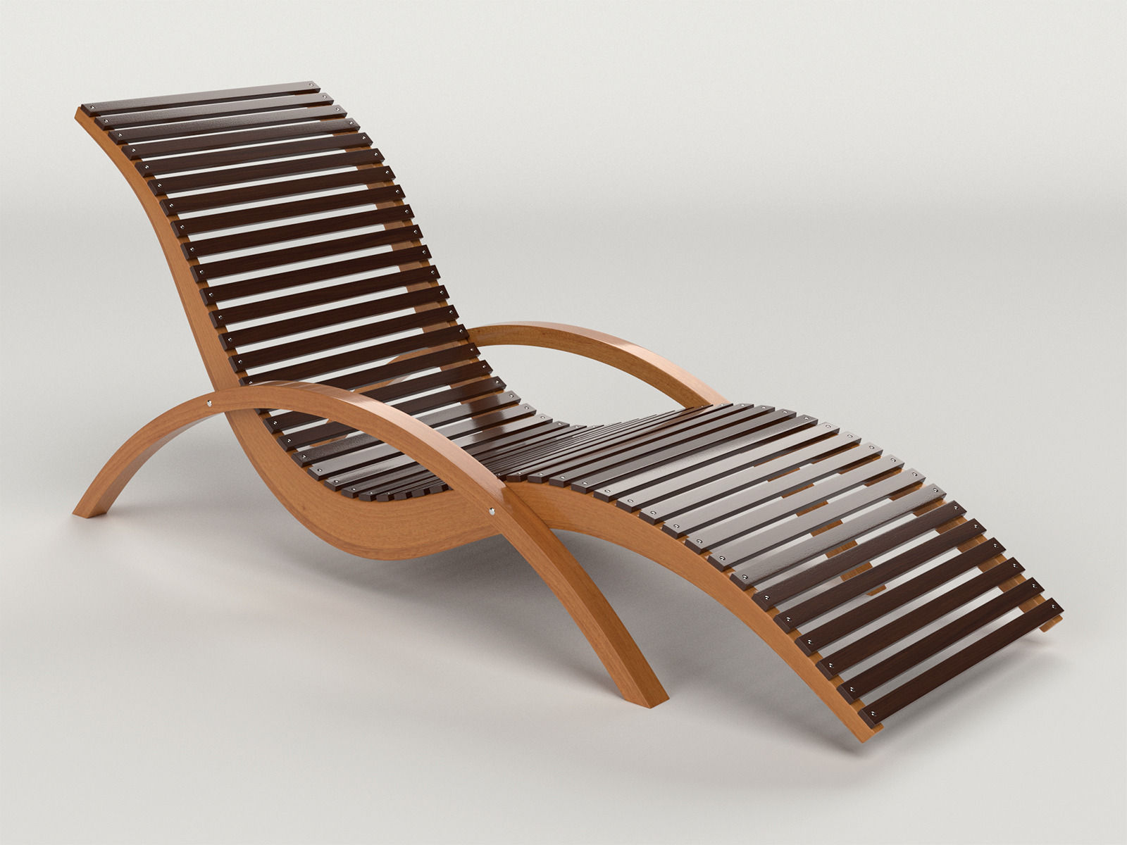 Lounge Chair Outdoor Wood Patio Deck 3D Model CGTrader Intended For Designs  5