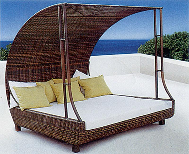 pool deck lounge chairs sun lounge daybed cane rattan deck Best Pool Lounge  Chairs