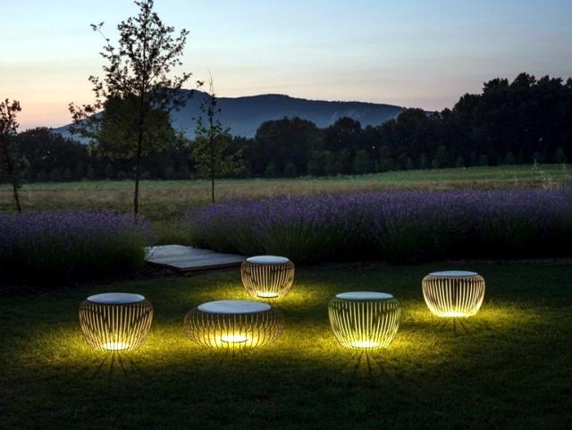 Enjoy the garden with decorative garden lights at night | Interior