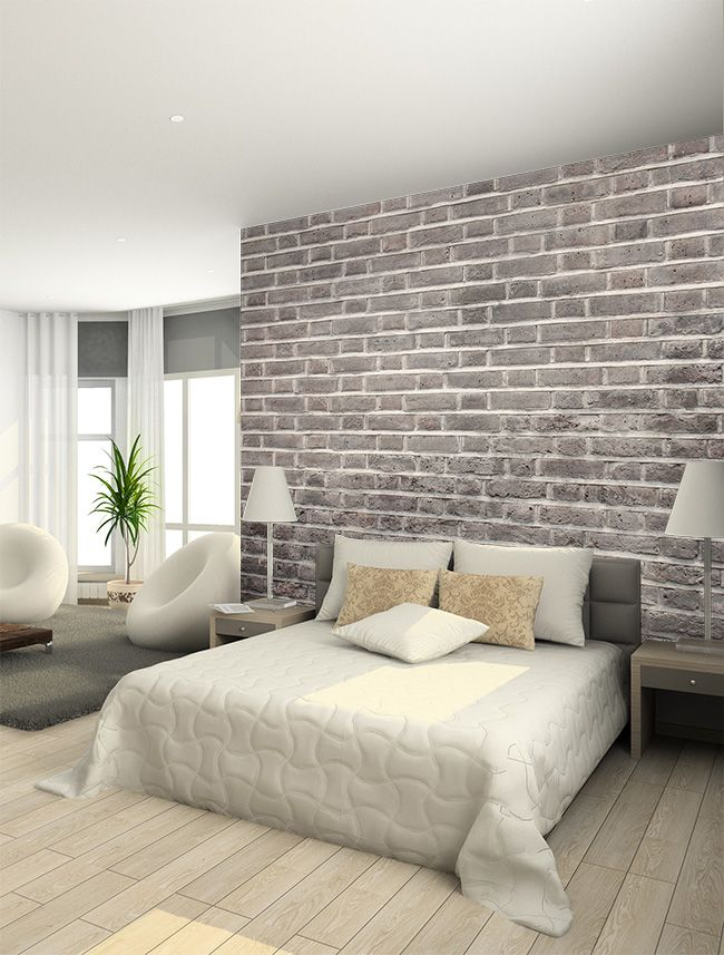 Wallpaper | Home and Interior | Bedroom, Brick wallpaper, Bedroom decor