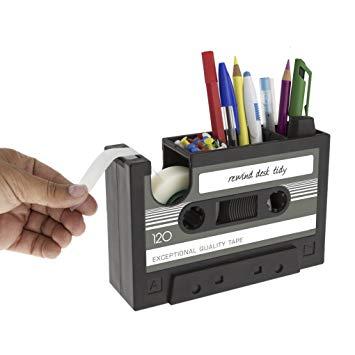 Creative Tape Design Desktop Pen Holder Decorative Desk Tidy Organizer  Storage Case Adhesive Tape Dispenser Office