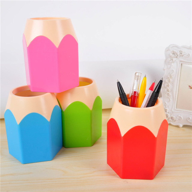 2018 Popular Creative Pen Vase Pencil Pot Makeup Brush Holder Stationery Desk  Tidy New Design Container