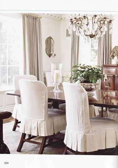 Love These Darling Chairs Slipcovers For Dining Chairs, Dinning Room Chair  Covers, Slip Covered