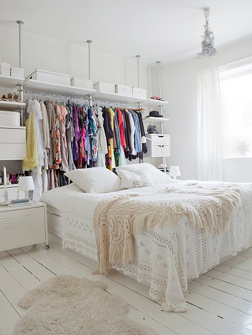 14 Small Bedroom Storage Ideas - How to Organize a Bedroom With No Closet  Space