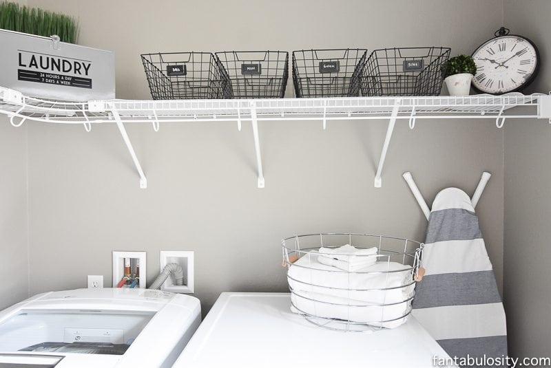DIY Laundry Room Shelving & Storage Ideas