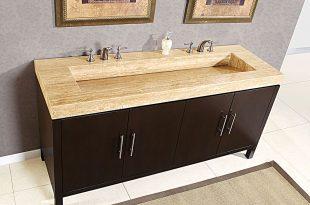 Ceramic Double Sink Vanity Top