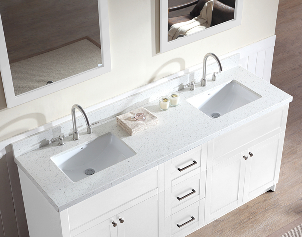 Custom Double Vanity Bathroom