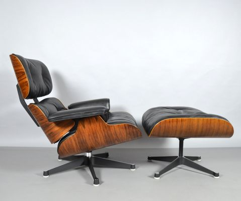 Lounge Chair & Ottoman by Charles & Ray Eames for Vitra, 1960s for