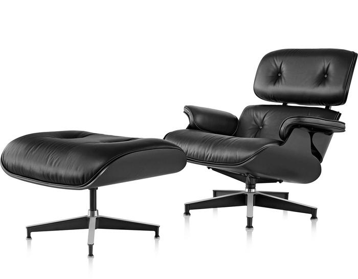 Ebony Eames® Lounge Chair & Ottoman - hivemodern.com