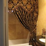 Best elegant fabric shower curtains with   valance can give a bright look to the bathroom