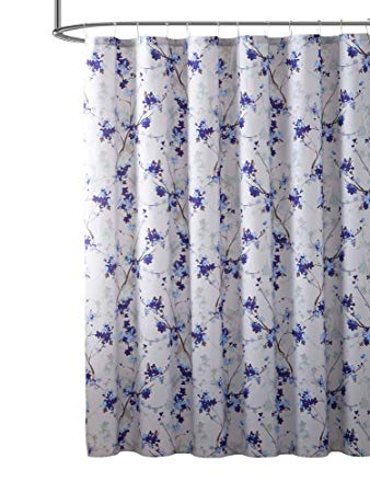 Amazon.com: Hudson & Essex Elegant Purple Blue Beige Fabric Shower