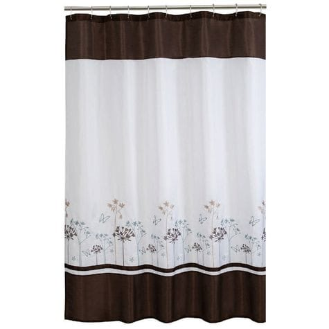 MAYTEX Angelina Floral Embroidery Fabric Shower Curtain: Shopko