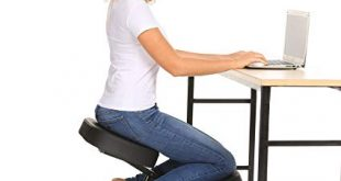 Homevol Ergonomic Kneeling Chair - Faux Leather - Thick Comfortable Moulded  Foam Cushions - Smooth Gliding