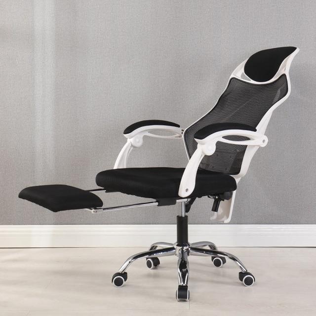 Ergonomic Computer Desk Office Mesh Recliner Chair With Footrest