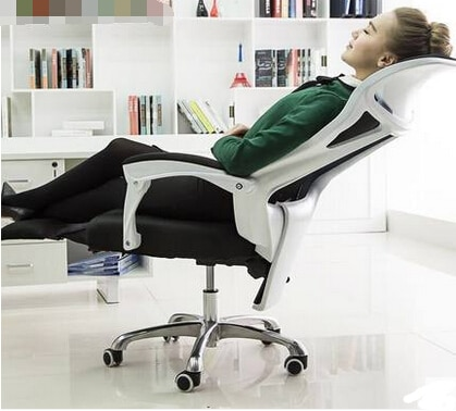 Home office chairs ergonomic mesh chairs turn the footrest Staff