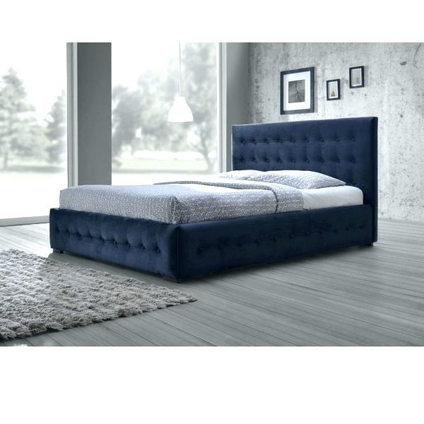 fabric headboards queen headboard size bed studio modern and contemporary  navy blue velvet button tufted platform