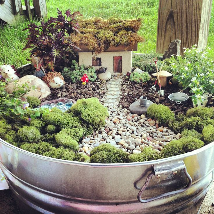 Ideas for making a fairy garden ideas   landscaping