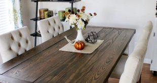 DIY Farmhouse Style Dining Table