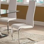 Different types of faux leather dining   chairs with chrome legs