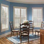 Home window designs using faux wood   plantation shutters