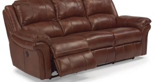 Flexsteel Latitudes - Dandridge 1351-62P Casual Power Reclining Sofa with  Contrast Stitching | Furniture and ApplianceMart | Reclining Sofas