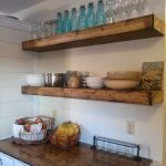 Decorate your homes with floating wall   shelves kitchen
