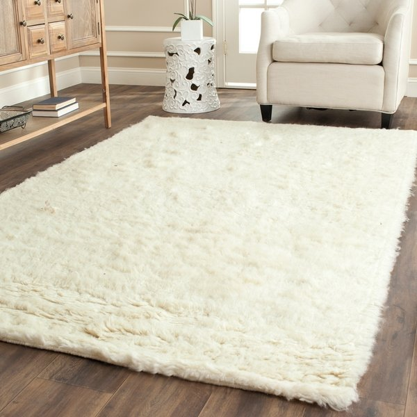 Shop Safavieh Handmade Flokati Ivory Wool Rug - 5' X 8' - On Sale