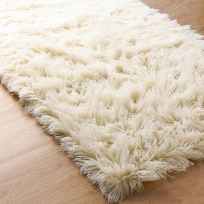 Plush Flokati Rug - Shades of Light