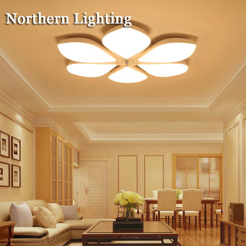 Modern LED Chandelier Acrylic Flush Mounted Light Fixture LED Bedroom  Living Dining room Chandelier Lamp Lustre for Ceiling