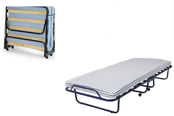 Folding bed & foam mattress, roll away bed with Castors, SANDVIKA single bed  size 80 cm x 190 cm. | Souq - UAE