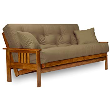 Nirvana Futons Stanford Futon Set - Full Size Futon Frame with Mattress  Included (8 Inch