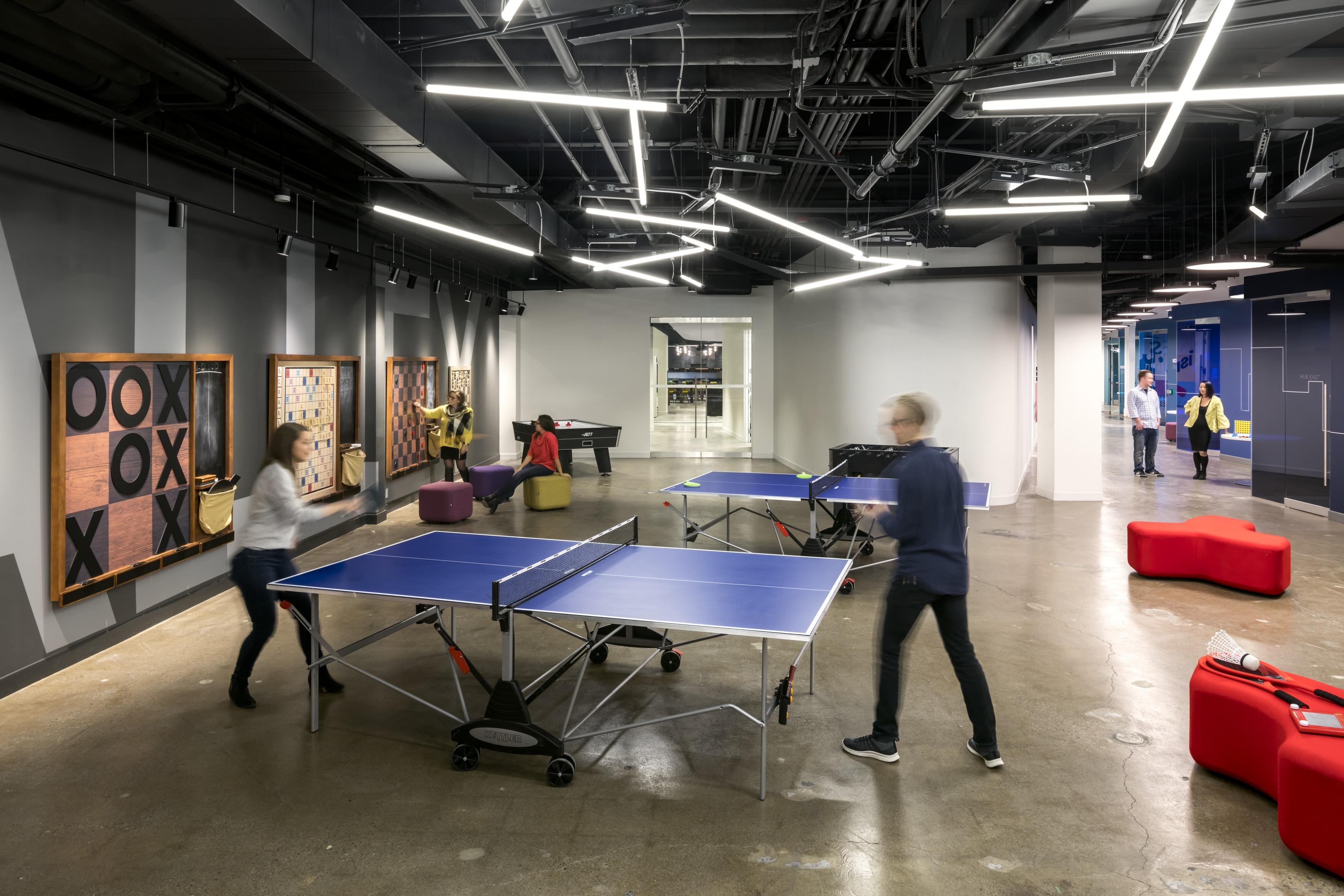 Games room at Scotiabank Digital Factory