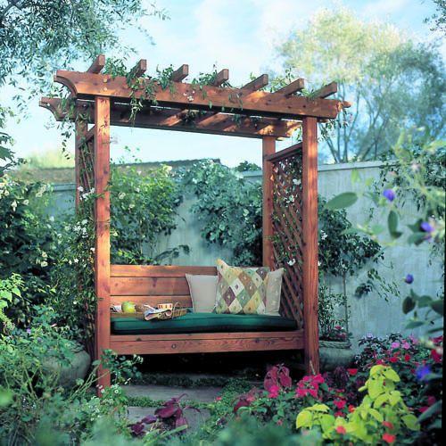 Garden Arbor Bench | Ghetto Garden: Landscape/ Garden Ideas | Garden