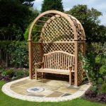 Best garden seat with trellis that will   decorate your garden