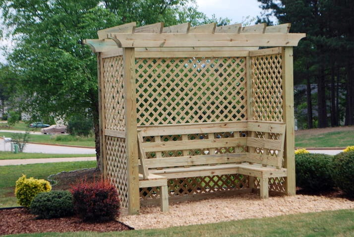 Teak Garden Bench Garden Arbor With Bench Trellis Bench Antique Bench