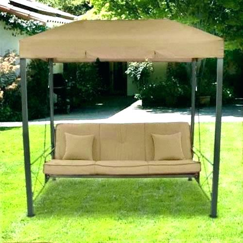 Patio Swings With Canopy Double Swing Set Powder Coated Steel Top