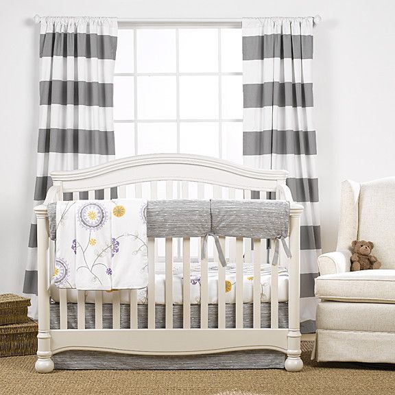 Gray Driftwood Crib Bedding (Bumperless) | Gender Neutral Nursery