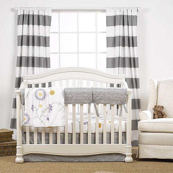 Gray Driftwood Crib Bedding (Bumperless) | Gender Neutral Nursery
