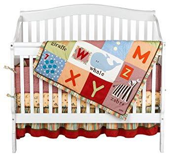 Amazon.com : Alphabet Soup 4 Piece Crib Bedding Set by Cocalo