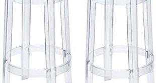 Amazon.com: Modway Casper Bar Stools in Clear - Set of 2: Kitchen