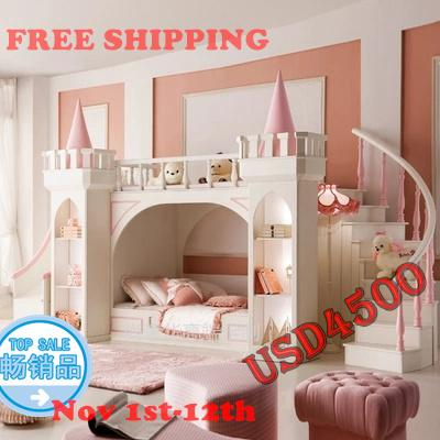 princess castle Bunk beds / Twin beds children's furniture for girls