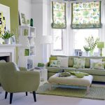 Different green themed living room ideas