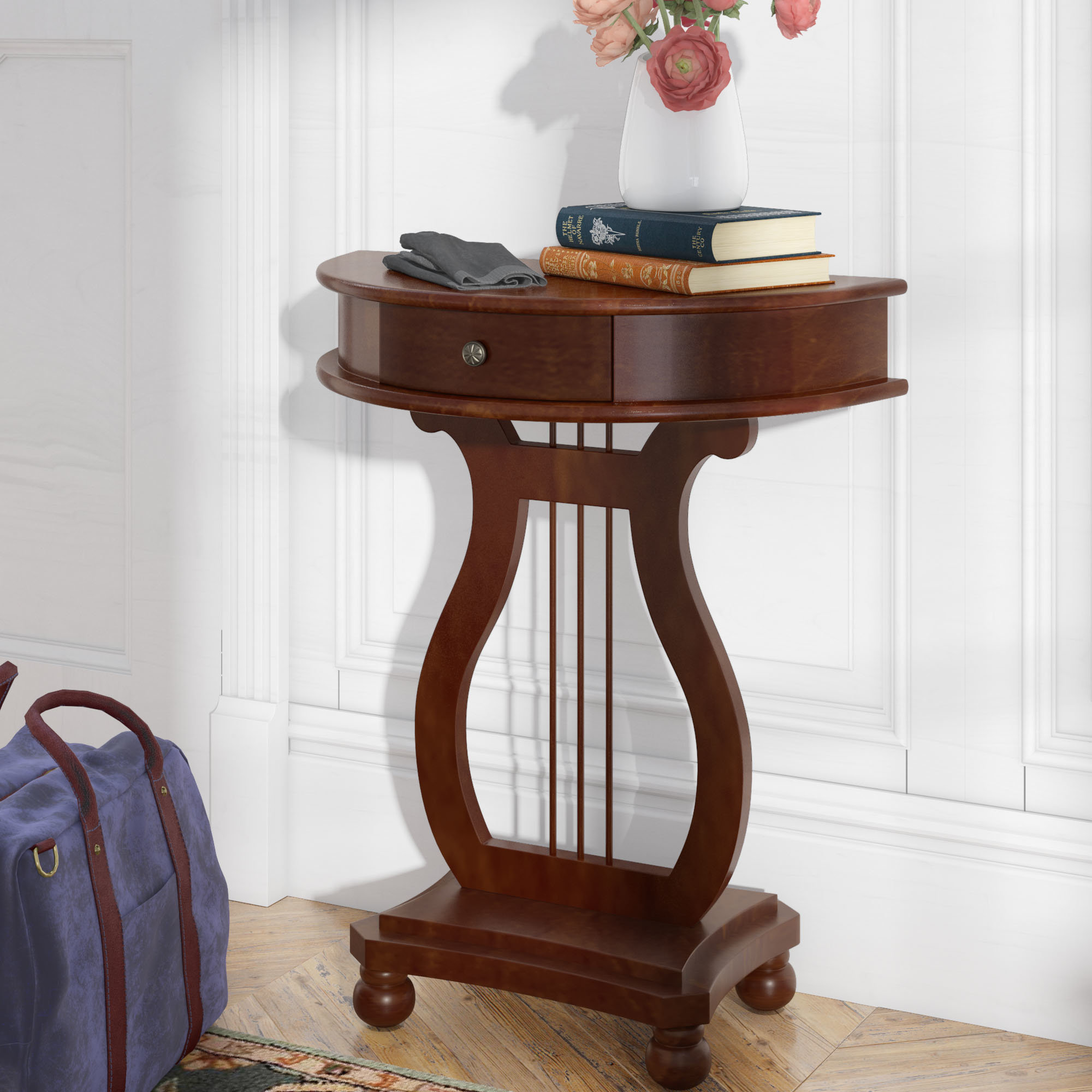 Dufresne Half Moon Harp Console Table
