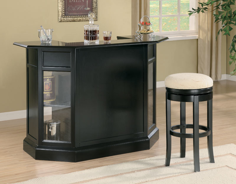Anavia Modern Black Home Bar Counter. Hover to zoom